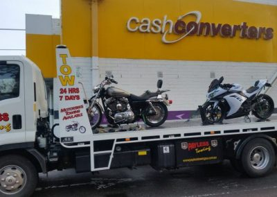 Motocycle Towed from Shopping Center