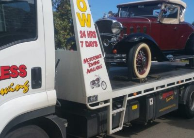 Vintage Car Towing Henley Beach