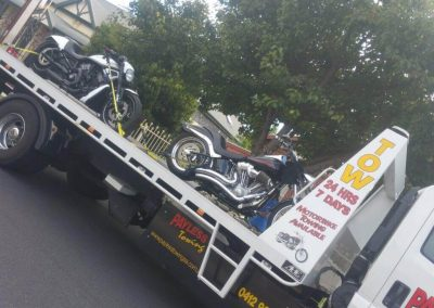 Motorcycle Towed from Prospect